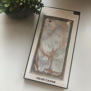 NEW! Rose Gold Marbled iPhone 6+ Phone Case